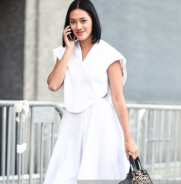 Spotted New York Fashion Week Street Style -All White Outfits