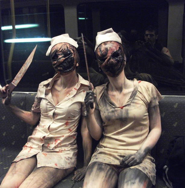 13 diy halloween costumes that are actually pretty scary the diy silent hill nurse costume solutioingenieria Gallery