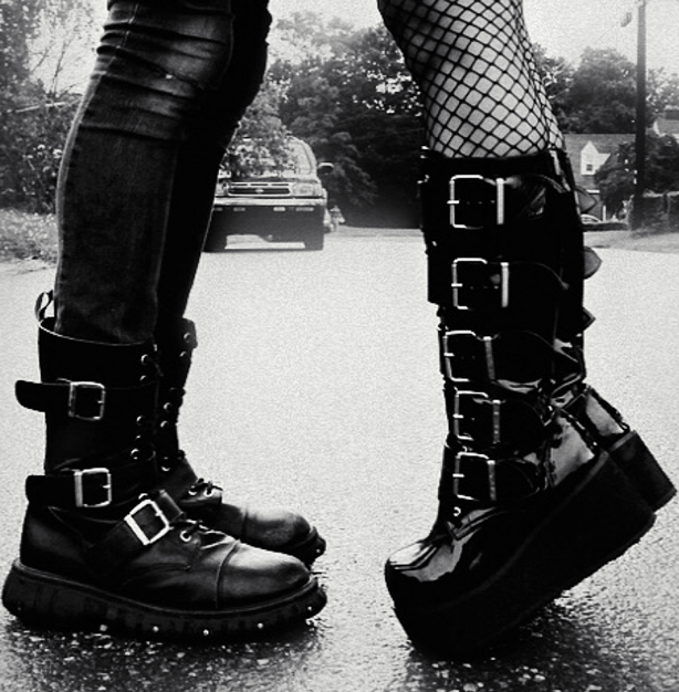 Easy Goth Style Transition - Combat Boots