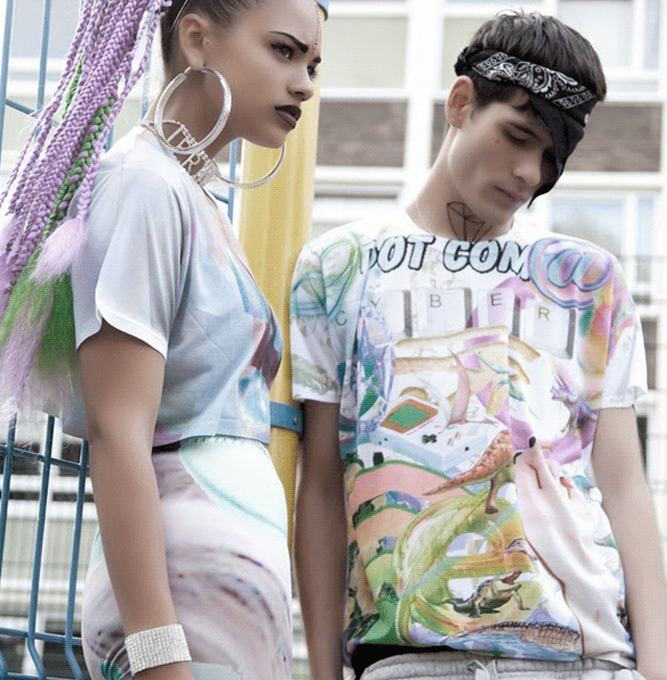 Dress up your 3D graphic tees with interesting jewelry choices.