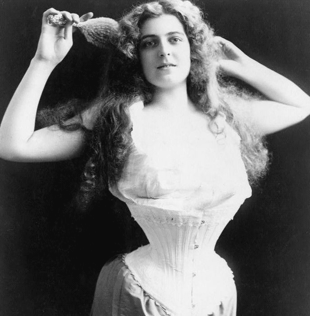 Corset fashion from the 19th century