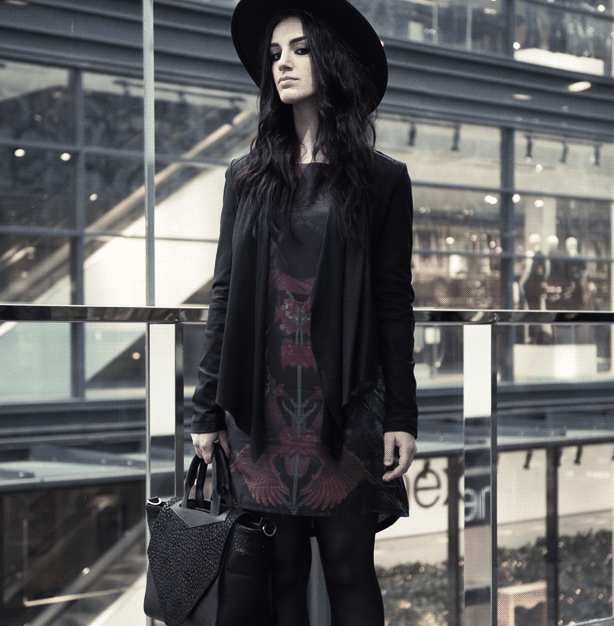 Tips for wearing all black to get a great modern Goth style.