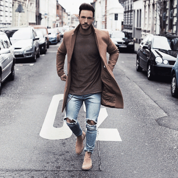How should men style skinny jeans?