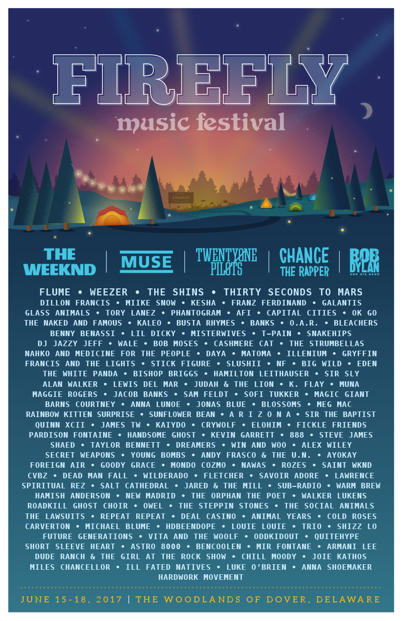 Lineup for Firefly 2017