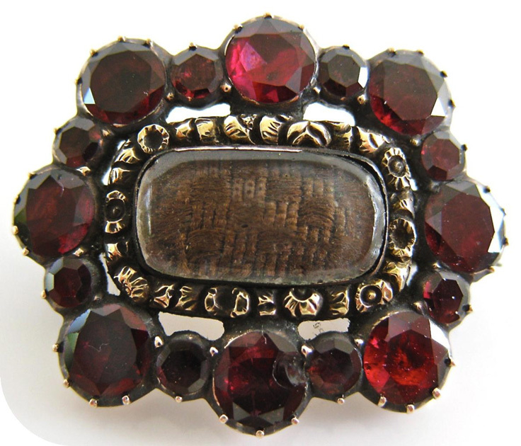 A macabre tradition victorian brooch made with the hair of the dead
