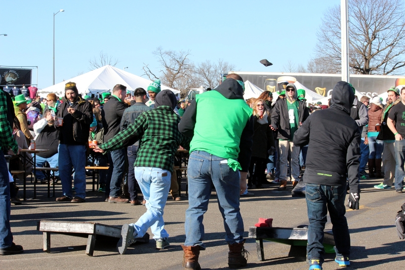 Cornhole at ShamrockFest 2017