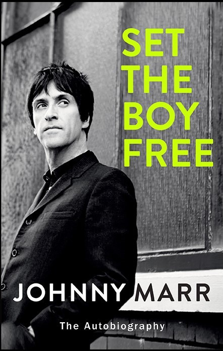 Alternative musician autobiography book cover for Johnny Marr, Set the Boy Free