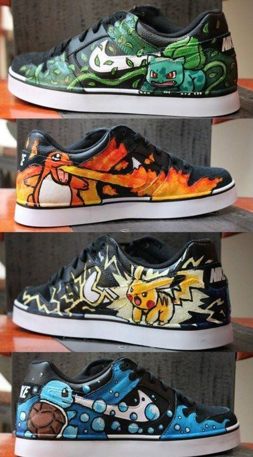Subtle Geek Fashion: DIY Pokemon Sneakers