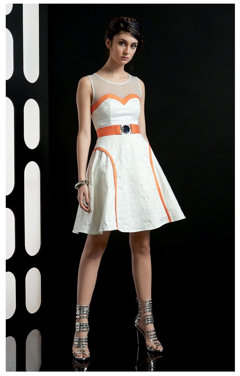Subtle Geek Fashion: BB8 inspired dress