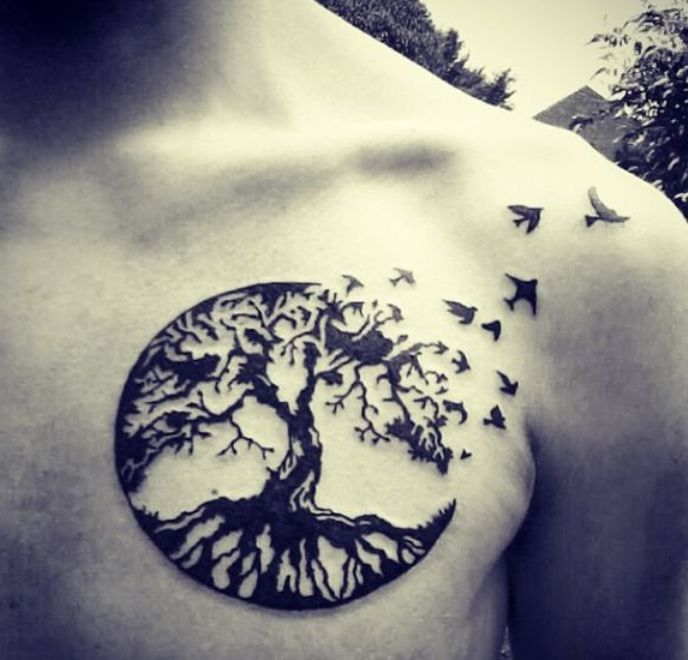 Things To Know Before Your First Tattoo Sesh: Chest piece tattoo