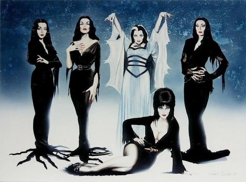 Your Guide to Acrylic Nails: Lily Munster and Morticia Addams