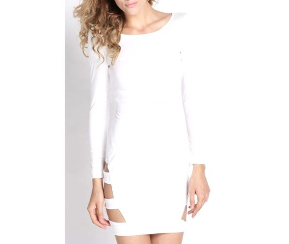 Effortless Style: White cut-out dress