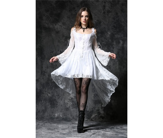 White Gothic Dovetail Dress