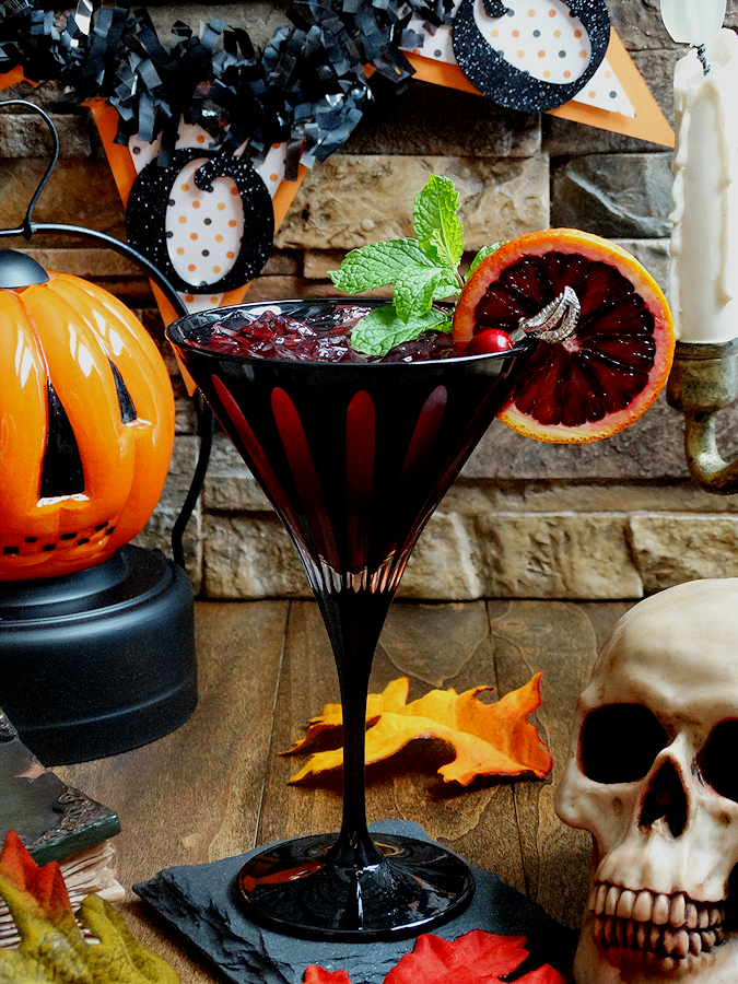 This Bloody Zombie Rum Cocktail is perfect for Halloween