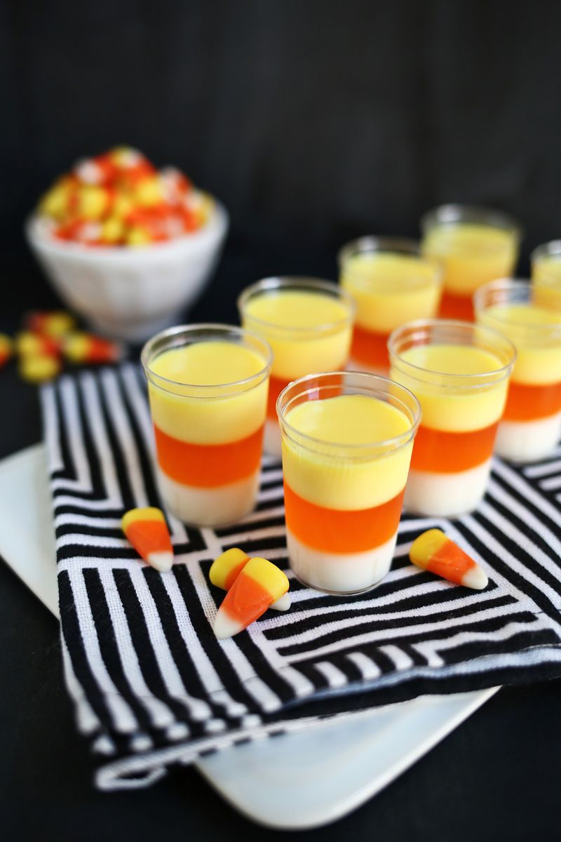 Candy corn halloween jello shots