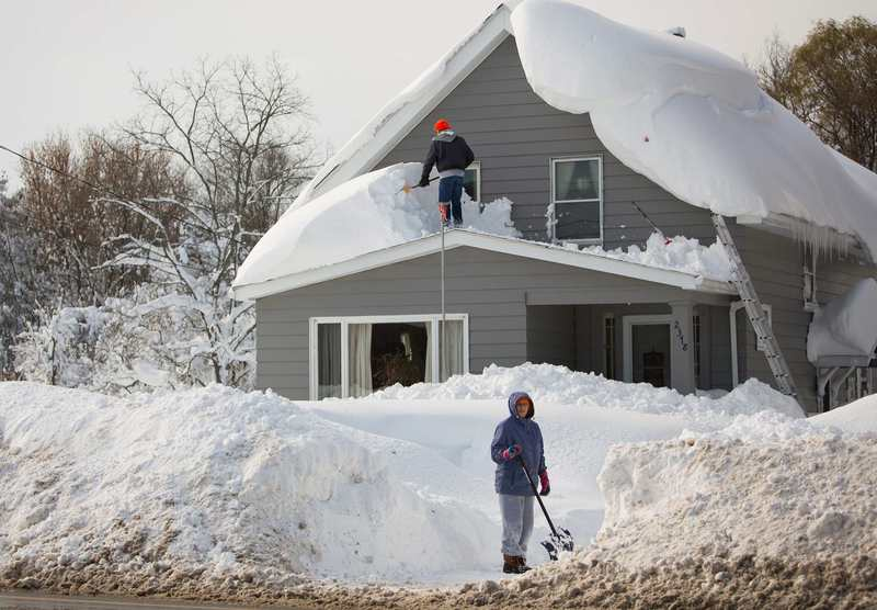 Buffalo NY hit with heavy snowfall on Friday 13th