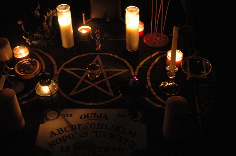 Elements of a ouija board