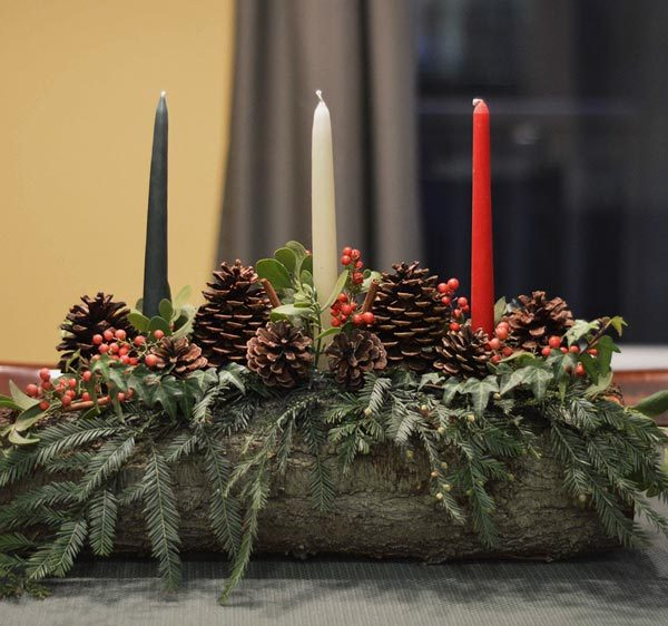 Decorative Yule Log