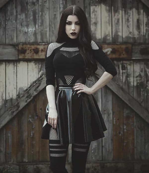 Gothic Christmas Party Fashion: Keep it Simple with a Gothic Skirt