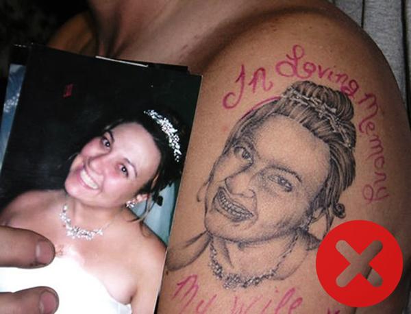 Tattoos to avoid: Portrait Tattoos