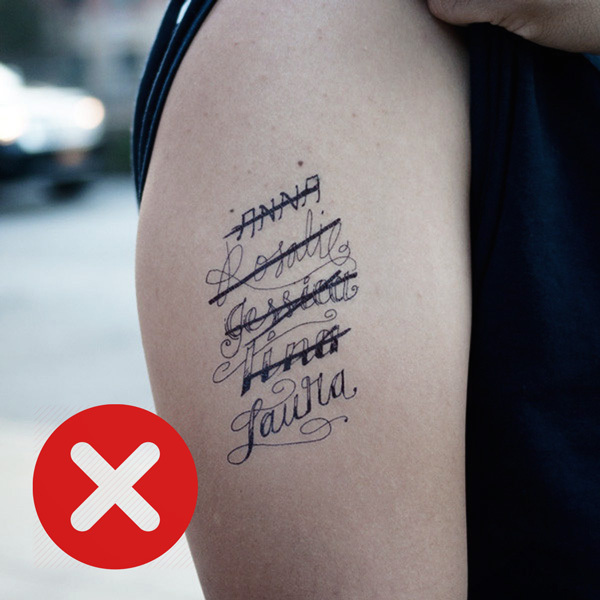 Tattoos to Avoid: Lover's Name Tattoo