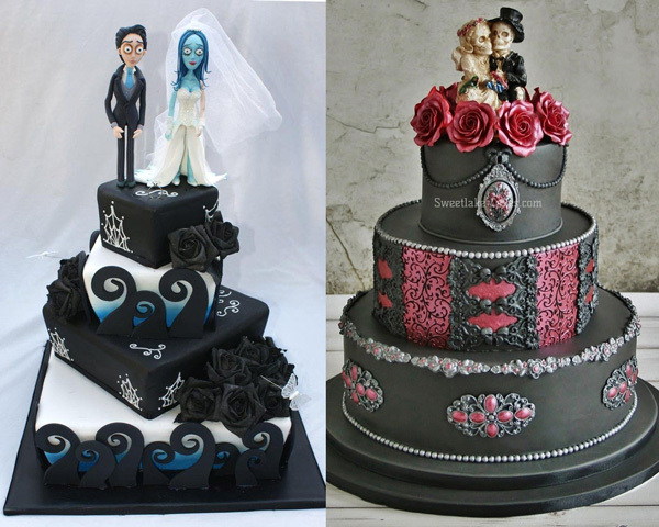 Creative Gothic Wedding Cake Toppers