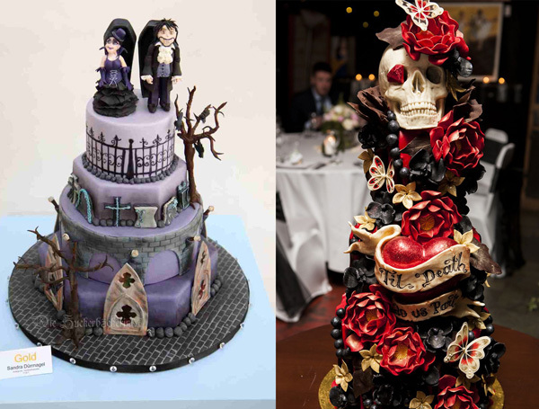 Gothic Wedding Cake Themes