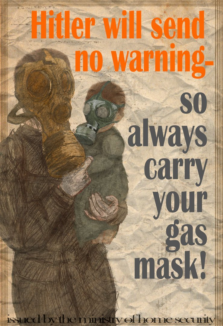 Wolflover007 Gas Mask WW2 Propaganda poster on Deviantart