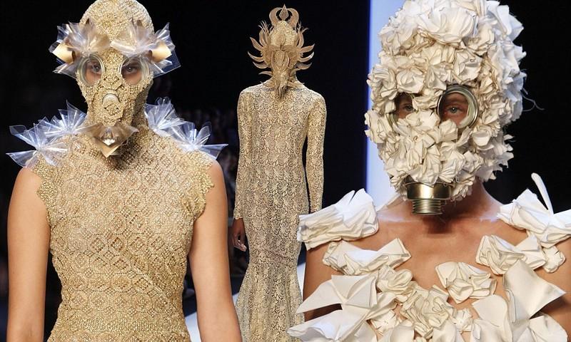 Floral fashion gas masks