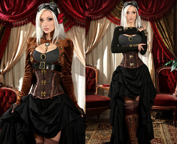 Sexy Steampunk Corset Costumes