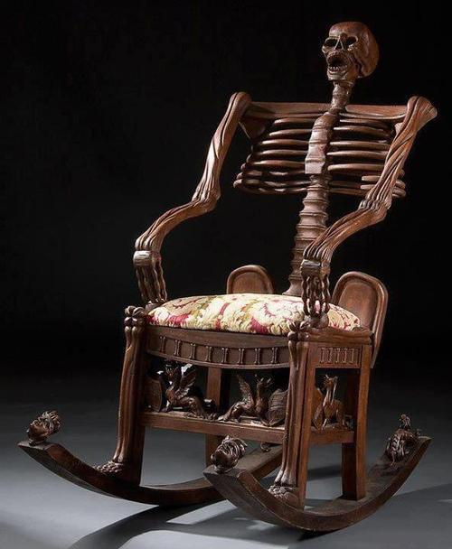 Skeleton Rocking Chair