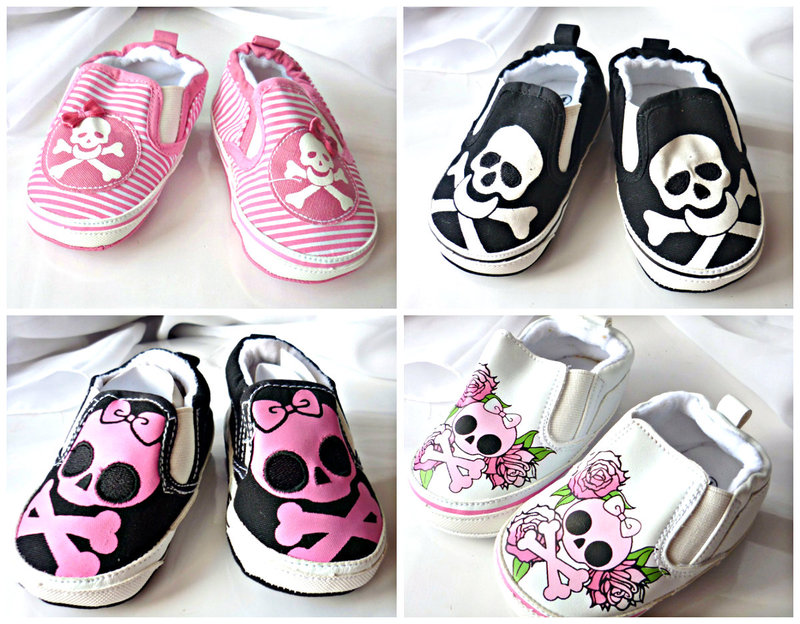 Edgy baby shoes