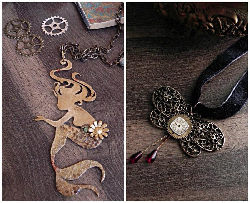 Steampunk handmade jewelry