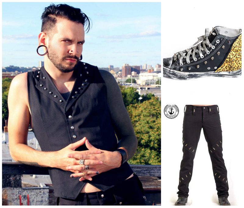 Punk rock men clothing