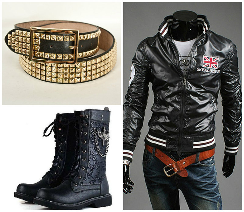 Glam punk men fashion