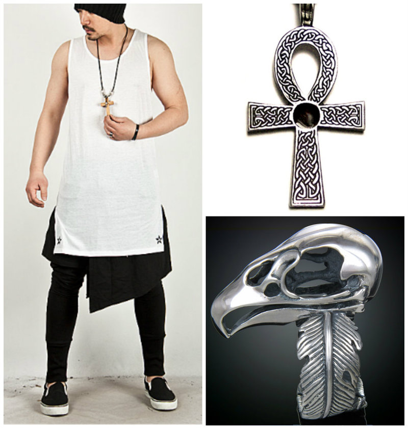 Glam punk men accessories