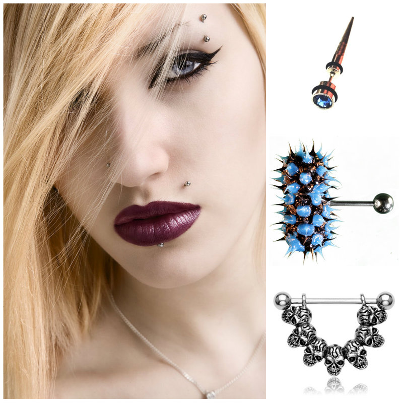 Glam punk piercing