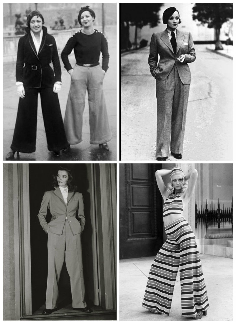 Women in history wearing trousers