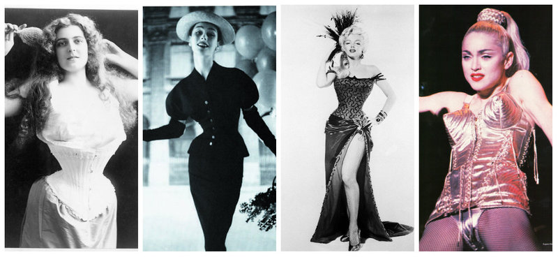 Women in history in corsets