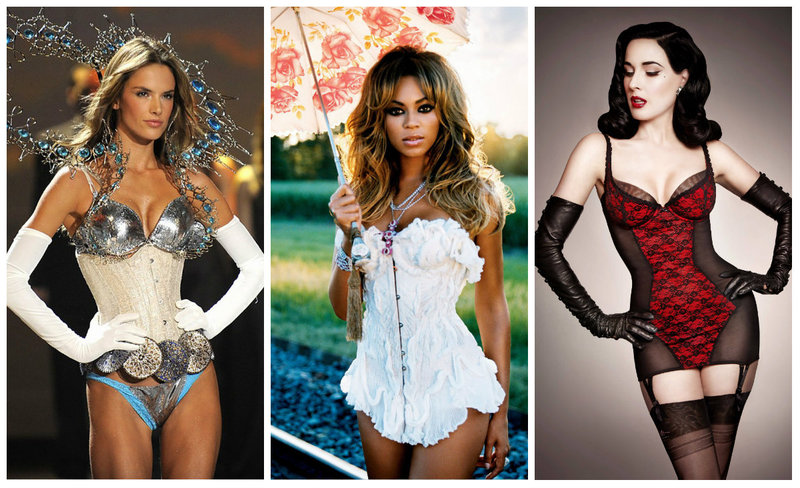 women in corsets